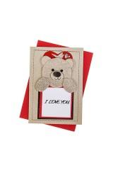 Открытка подарочная Романтичный мишка