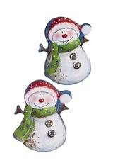 Набор наклеек новогодних Добрые снеговики