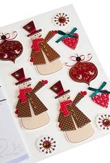 Набор новогодний для создания открытки Снеговики