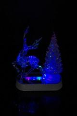 Украшение новогоднее светящееся Олень у елки