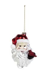 Украшение елочное Дед Мороз с птичкой