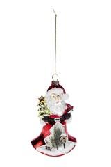 Украшение елочное Дед Мороз с елочкой