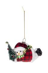 Украшение елочное Парящий снеговичок