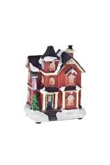 Украшение для интерьера новогоднее светящееся Домик в снегу