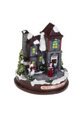 Украшение новогоднее светящееся Дом накануне праздника