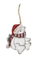 Украшение новогоднее Мишутка в шапке и шарфике