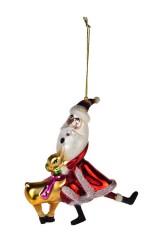Украшение елочное Дед Мороз с олененком