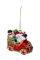 Украшение елочное Дед Мороз и снеговик с подарками