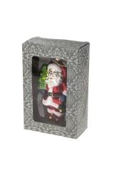 Украшение елочное Дед Мороз с елочкой и фонариком