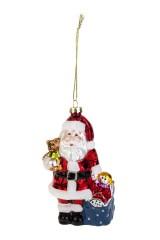 Украшение елочное Дед Мороз с мишкой и подарками