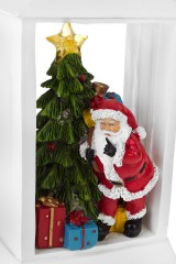 Украшение новогоднее светящееся Дед Мороз у елки