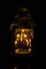 Украшение новогоднее светящееся Дед Мороз в санях с подарками