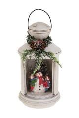 Украшение новогоднее светящееся Дети со снеговиком