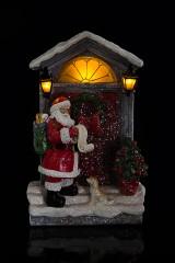 Украшение новогоднее светящееся Дед Мороз с мешком подарков
