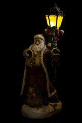 Украшение новогоднее светящееся Дед Мороз у фонаря