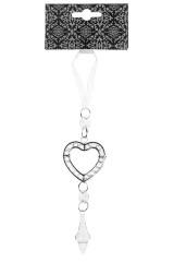Украшение декоративное Сердце с кристаллом