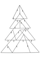 Украшение новогоднее настенное Волшебная елочка
