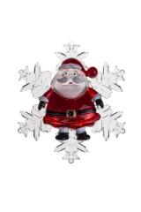 Украшение новогоднее светящееся Дед Мороз и снежинка
