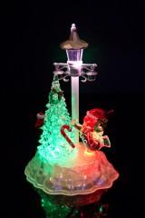 Украшение новогоднее светящееся Снеговик у елки