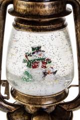 Украшение новогоднее светящееся Снеговик с пингвином