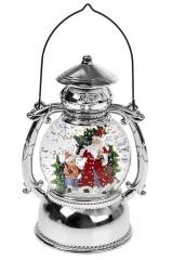 Украшение новогоднее светящееся Дед Мороз с елочкой