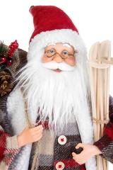 Украшение новогоднее Дед Мороз с подарками и лыжами
