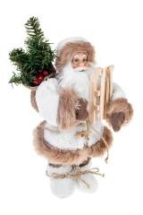 Украшение новогоднее Дед Мороз с санками и елкой