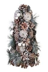 Украшение новогоднее Елочка из шишек и еловых веточек