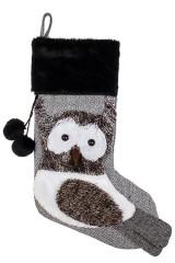 Рождественский носок Совушка