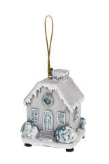 Украшение новогоднее светящееся Домик в снегу