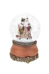 Шар со снегом музыкальный Дед Мороз с подарками