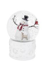Шар со снегом Снеговик с олененком