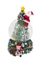 Шар со снегом Новогодняя елка