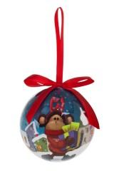 Шар елочный Норвежская обезьянка с подарками