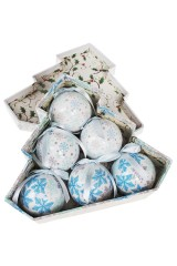 Набор шаров елочных Снежинки