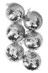 Набор шаров елочных Серебряная россыпь