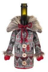 Украшение для бутылки Вязаный свитер