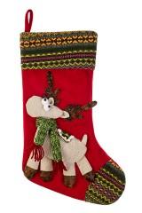 Рождественский носок Веселый олень