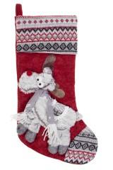 Рождественский носок Веселый лосик