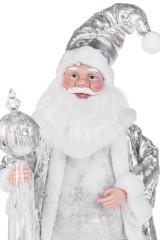 Украшение новогоднее музыкально-двигающееся Дед Мороз с посохом