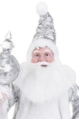 Украшение новогоднее музыкально-двигающееся Дедушка Мороз с посохом