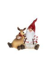 Фигурка новогодняя Дед Мороз с лосиком