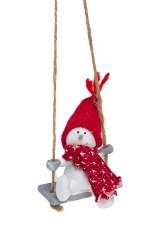 Украшение новогоднее Веселый снеговичок