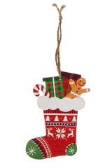 Украшение елочное Рождественский носок