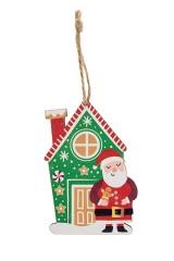Украшение елочное Санта с пряником
