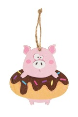 Украшение декоративное Свинка в пончике