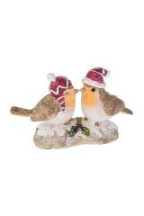 Фигурка новогодняя Влюбленные снегири