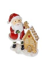 Фигурка новогодняя Веселый Дед Мороз