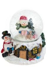 Сувенир Снеговик в шаре
