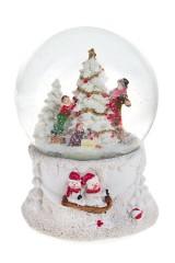 Украшение новогоднее музыкальное Шар - Дети у елочки